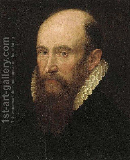 Portrait of a gentleman, small bust-length, with a beard and in a white ruff by (after) Frans, The Elder Pourbus - Reproduction Oil Painting