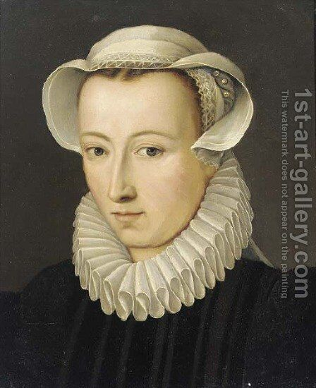 Portrait of a lady by (after) Frans, The Younger Pourbus - Reproduction Oil Painting