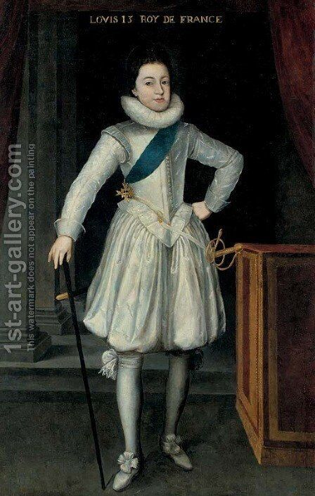 Portrait of Louis XIII of France by (after) Frans, The Younger Pourbus - Reproduction Oil Painting