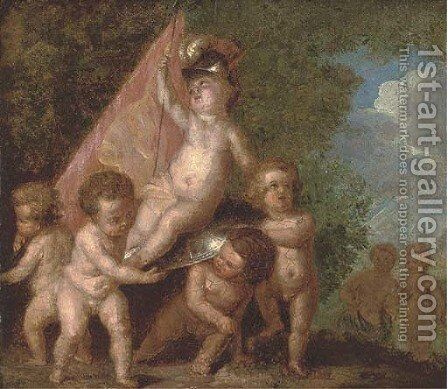 Putti disporting by (after) Frans Wouters - Reproduction Oil Painting