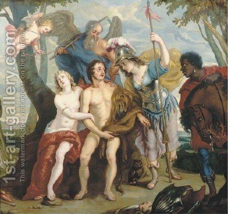 Hercules at the Crossroads by (after) Gaspar De Crayer - Reproduction Oil Painting