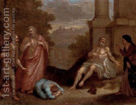 The Death of Socrates by (after) Gerard De Lairesse - Reproduction Oil Painting