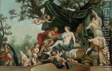 Venus and Mars by (after) Gerard De Lairesse - Reproduction Oil Painting