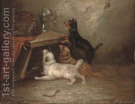 The rat's visitors by (after) George Armfield - Reproduction Oil Painting