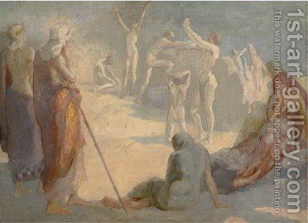 The cleansing by (after) Watts, George Frederick - Reproduction Oil Painting
