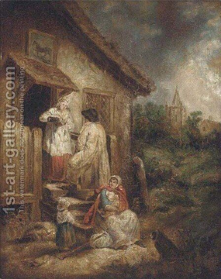 A charitable offering by (after) George Morland - Reproduction Oil Painting