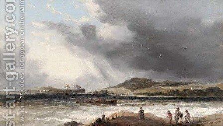 The approaching squall by (after) George Morland - Reproduction Oil Painting