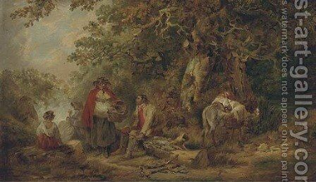 The gypsy encampment 2 by (after) George Morland - Reproduction Oil Painting