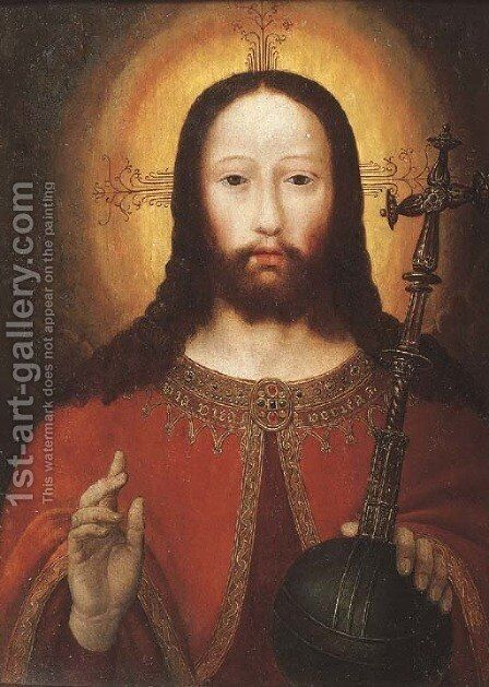Salvator Mundi by (after) Gerard David - Reproduction Oil Painting