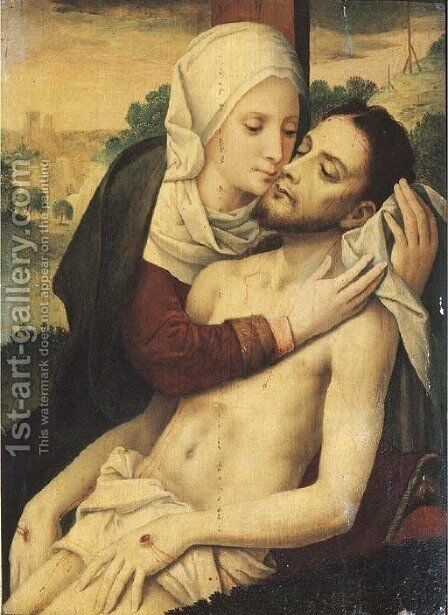 The Lamentation 2 by (after) Gerard David - Reproduction Oil Painting