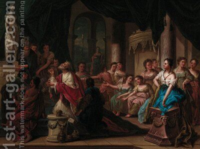 The Idolatry of King Solomon by (after) Gerard Hoet - Reproduction Oil Painting
