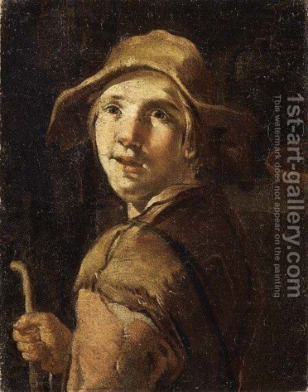 A beggar by (after)  Giacomo Ceruti (Il Pitocchetto) - Reproduction Oil Painting