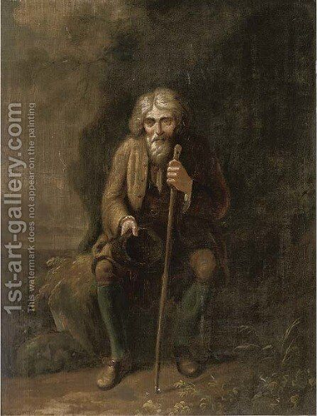 A beggar by (after) Giacomo Francesco Cipper, Il Todeschini - Reproduction Oil Painting