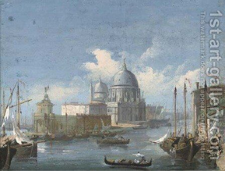 Sante Maria della Salute, Venice by (after) Giacomo Guardi - Reproduction Oil Painting