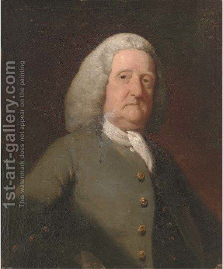 Portrait of a gentleman 5 by (after) Gilbert Stuart - Reproduction Oil Painting