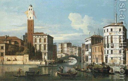 The Grand Canal, Venice, with a view of Saint Jeremia, the Palazzo Labia and the entrance to the Cannareggio by (after) (Giovanni Antonio Canal) Canaletto - Reproduction Oil Painting