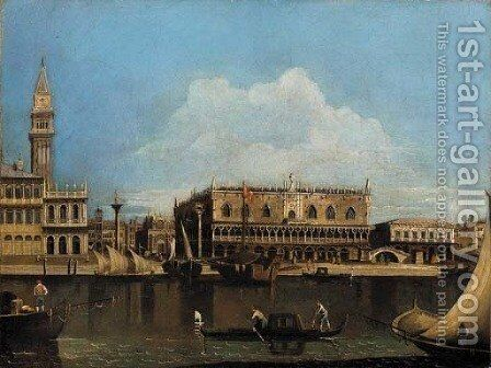 View of the Doge's Palace and the Piazzetta of San Marco, looking north, from the island of San Giorgio by (after) (Giovanni Antonio Canal) Canaletto - Reproduction Oil Painting
