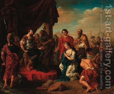 The Continence of Scipio by (after) Giovanni Battista The Younger Pittoni - Reproduction Oil Painting