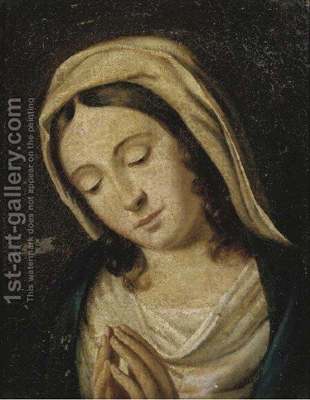 The Madonna at prayer 3 by (after) Giovanni Battista Salvi, Il Sassoferato - Reproduction Oil Painting