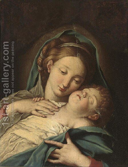 The Madonna and Child 2 by (after) Giovanni Battista Salvi, Il Sassoferato - Reproduction Oil Painting