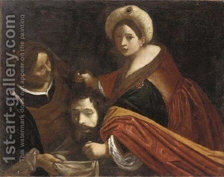 Judith with the head of Holofernes by (after) Giovanni Francesco Guercino (BARBIERI) - Reproduction Oil Painting