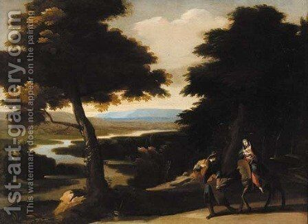The Flight into Egypt by (after) Giovanni Francesco Grimaldi - Reproduction Oil Painting