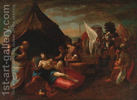 Alexander the Great and his physician Philip by (after) Giovanni Lanfranco - Reproduction Oil Painting