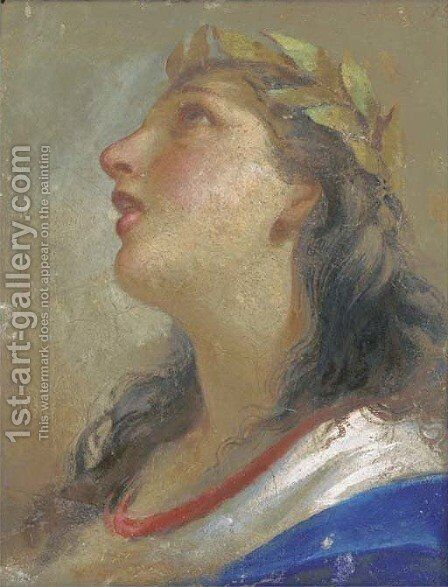 Head of a muse by (after) Giovanni Giovanni Da San (Mannozzi) - Reproduction Oil Painting