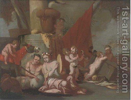 A Bacchanal 2 by (after) Giulio Carpioni - Reproduction Oil Painting