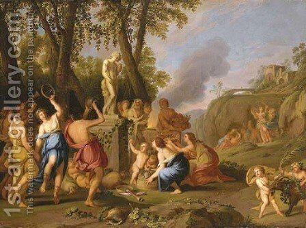 A Bacchanal 3 by (after) Giulio Carpioni - Reproduction Oil Painting