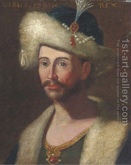 Portrait of King Cyrus of Persia by (after) Giuseppe Bonito - Reproduction Oil Painting
