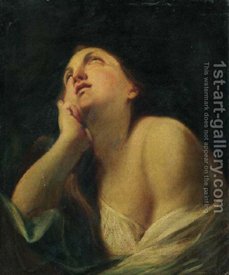 The Pentinent Magdalen by (after) Guido Cagnacci - Reproduction Oil Painting