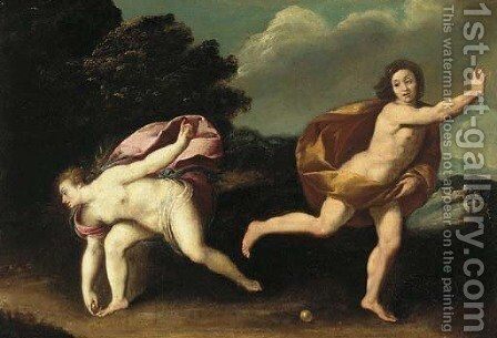 Atalanta and Hippomenes by (after) Guido Reni - Reproduction Oil Painting