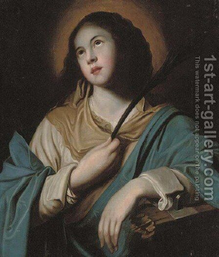 Saint Catherine of Alexandria by (after) Guido Reni - Reproduction Oil Painting