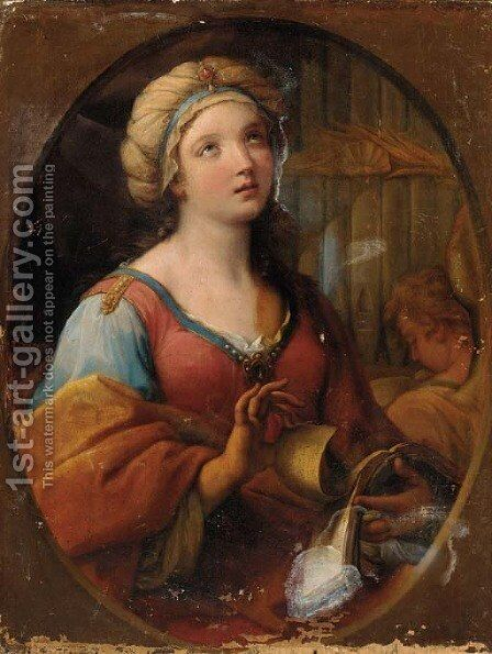 Saint Cecilia 3 by (after) Guido Reni - Reproduction Oil Painting