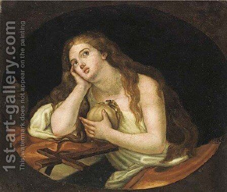 The Penitent Magdalen 5 by (after) Guido Reni - Reproduction Oil Painting