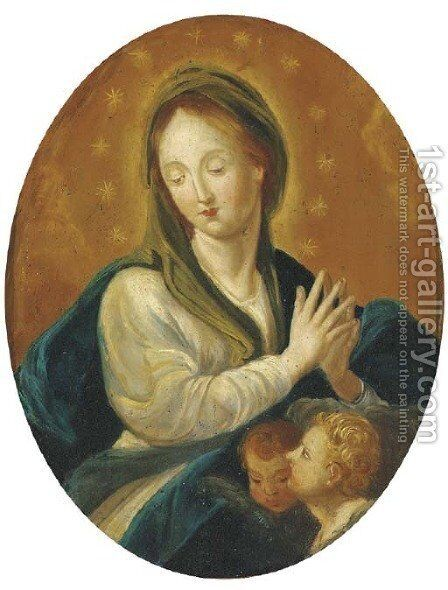 The Virgin in Glory by (after) Guido Reni - Reproduction Oil Painting