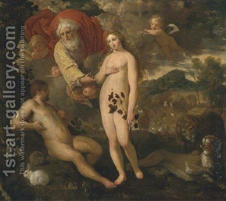 The Garden of Eden by (after) Hans I Rottenhammer - Reproduction Oil Painting
