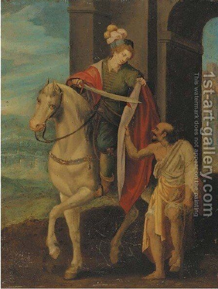 Saint Martin And The Beggar by (after) Hans Von Aachen - Reproduction Oil Painting