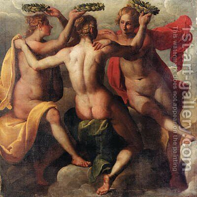 The Three Graces by (after) Hans Von Aachen - Reproduction Oil Painting