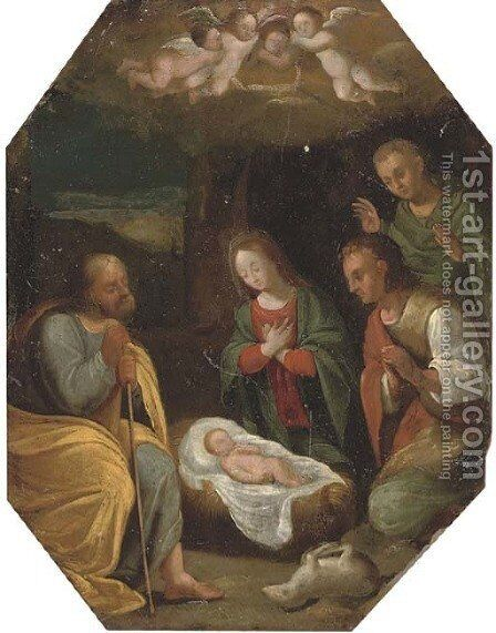 The Adoration of the Shepherds by (after) Hendrik Van Balen, I - Reproduction Oil Painting
