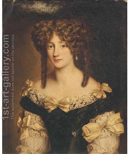 Portrait of a lady 3 by (after) Henri Gascars - Reproduction Oil Painting