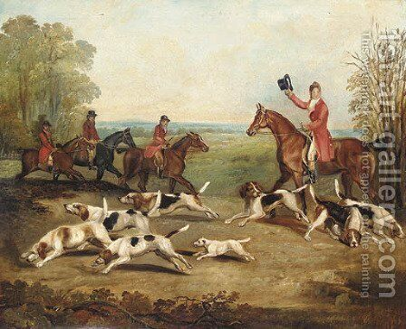 A catch of the scent by (after) Henry Alken - Reproduction Oil Painting