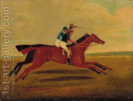 In full gallop by (after) Henry Alken - Reproduction Oil Painting