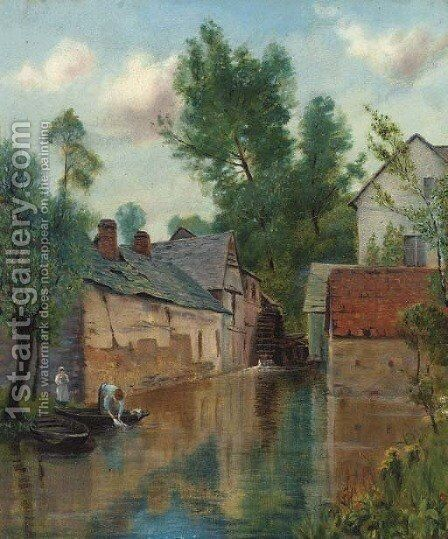 The watermill by (after) Henry John Yeend King - Reproduction Oil Painting