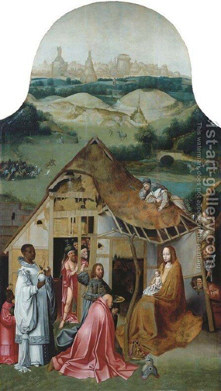 The Adoration of the Magi by (after) Hieronymus Bosch - Reproduction Oil Painting