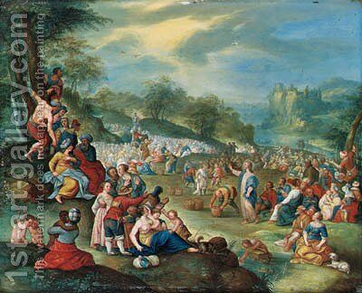 The Feeding of the Five Thousand by (after) Hieronymous III Francken - Reproduction Oil Painting