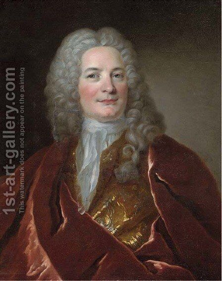 Portrait of a gentleman 3 by (after) Hyacinthe Rigaud - Reproduction Oil Painting