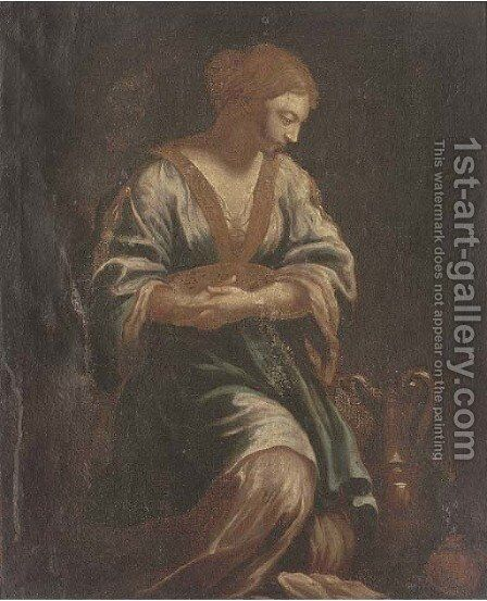 Saint Mary Magdalene by (after) Ippolito Scarsella (see Scarsellino) - Reproduction Oil Painting