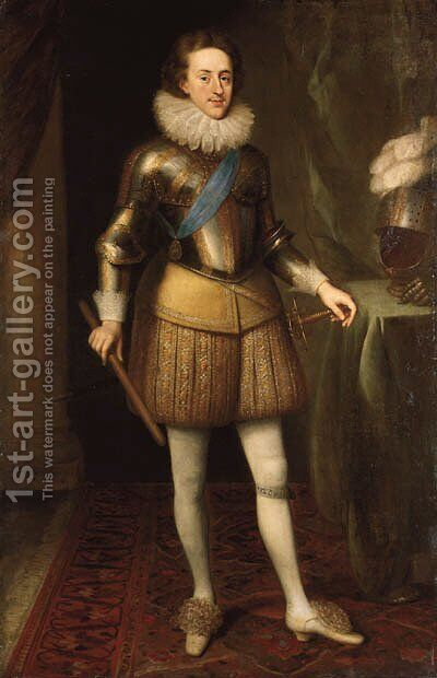 Portrait of Henry Prince of Wales (1594-1612) by (after) Isaac Oliver - Reproduction Oil Painting